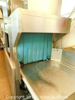 Hobart Commercial Conveyor Dishwashing Station