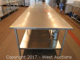 (1) Stainless Steel Prep Table 8'x4'
