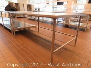 (1) Stainless Steel Prep Table 6'x4'
