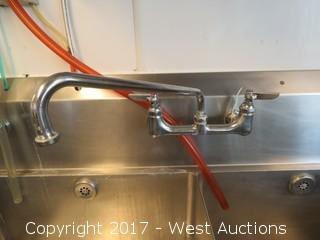 John Boos Stainless 3 Basin Sink with 2 Drainboards