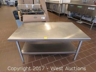Stainless Steel Prep Table 4'x2.5'