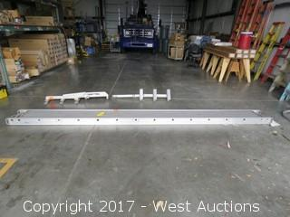 Green Bull 13' Aluminum Scaffold Plank with (2) Green Bull Ladder Jack System