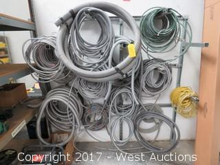 Wall Mounted Spool Rack with Electrical Cable