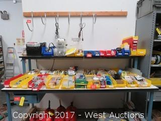Bulk Lot; (50)+ Hardware Organizers Full of Electrical Supplies and Hardware