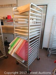 Win-Holt Portable Tray Rack with (35) Cutting Boards