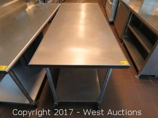Stainless Steel Table 6' x 2.5'