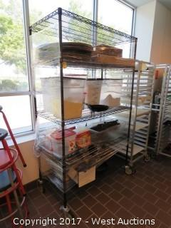 Metro Rack on Casters with Food Containers