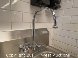John Boos Wall Mount Hand Sink 2' x 2'