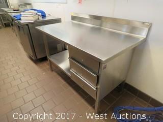John Boos Stainless Steel Desk 4.5' x 2.5'