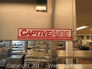 (2) Stainless Steel Prep Stations with (2) CaptiveAire Hood Systems