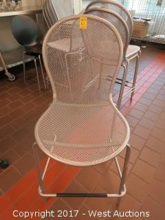 (25) Stackable Mesh Chairs