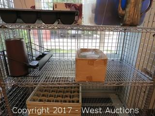 Metro Wire Cage Cart with Supplies