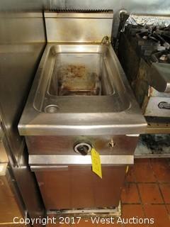 Commercial 2 Burner Basin Food Cabinet