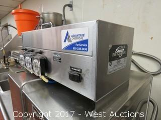 CMA Mixer AH-2 Commercial Auto-Washing Line With Sink and Table