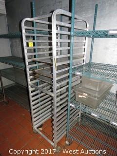 6' Portable Aluminum Tray Rack