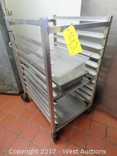 3' Aluminum Portable Tray Rack