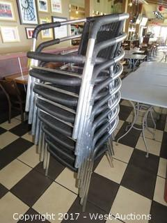 (8) Steel Frame Stacking Patio Chairs