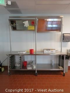 SPG Stainless Steel Table with Mirror Top 8' x 2.5'