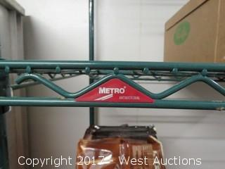 Metro Rack with Green Epoxy on Casters