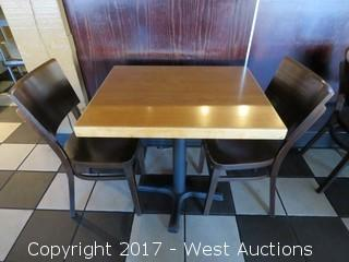"""Table Set: (1) 30"""" x  24"""" Table with (2) 32"""" Chairs"""