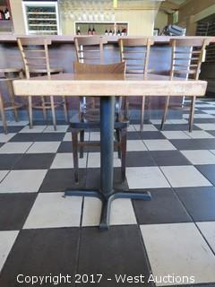 "30"" x 24"" Wood Table with (1) 32"" Wood Chair"