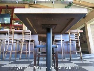 """30"""" x 24"""" Wood Table with (1) 32"""" Wood Chair"""