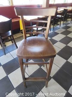"(1) 43"" Wood Bar Seat"