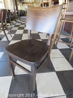 "(1) 32"" Wood Chair"