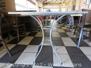 "(1) 30"" x 24"" Steel Table"