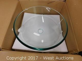 "(1) 16"" Glass Sink Basin"