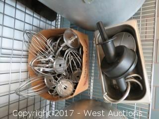 Metro Wire Cage Cart with Induction Burners, Fry Baskets, Pots, Mixer Attachments