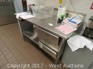 John Boos Stainless Steel Desk 4' x 2.5'