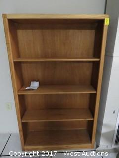 (2) Wood Bookcases 5' x 2.5'