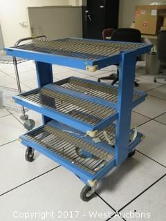 Heavy Duty Three Shelf Utility Cart