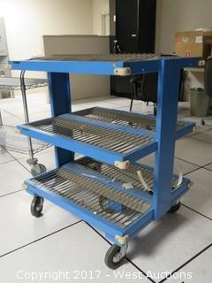 Heavy Duty Three Shelf Utility Cart
