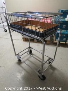 Utility Cart with Basket Type Top