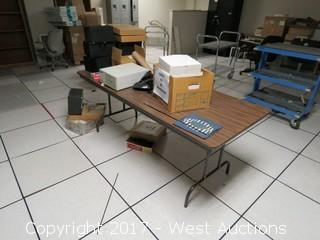 Folding Table with Contents
