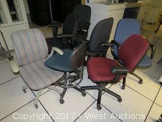 (7) Rolling Office Chairs