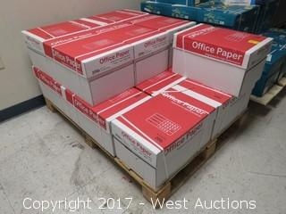 "(14) Boxes Of Copier Paper 8 1/2"" x 11"" on Pallet"