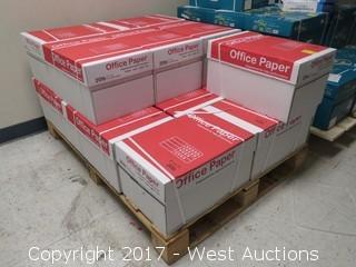 """(14) Boxes Of Copier Paper 8 1/2"""" x 11"""" on Pallet"""