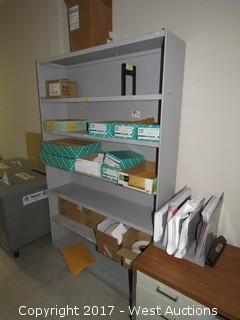Steel Shelf 6' x 3' with Office Supplies