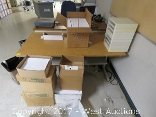 Woodgrain Top Metal Desk 5' x 2.5'