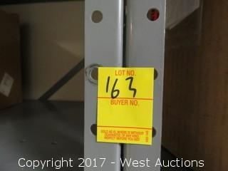 (2) Steel Metal Shelf Units 7' x 2.5'