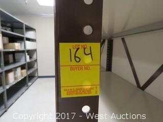 (5) Steel Metal Shelf Units 7' x 2.5'