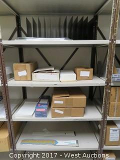 (4) Steel Metal Shelf Units 7' x 2.5'