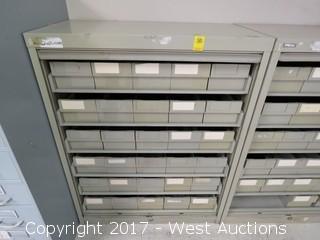 Metal Card File Storage Unit