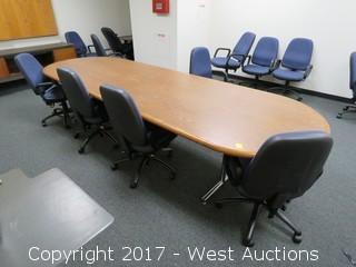 Bulk Lot of Conference Table, Desks, Chairs, Whiteboard