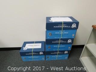 Bulk Lot: Desk, Shelves, Cabinets, Monitors, Office Supplies