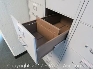 (3) 5' Hon Filing Cabinets
