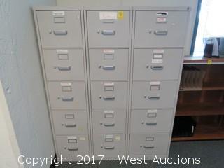 (3) 5' Hon Filing Cabinets